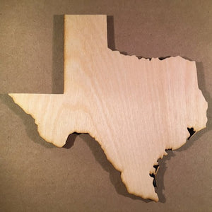 TX Texas Wood Cutout