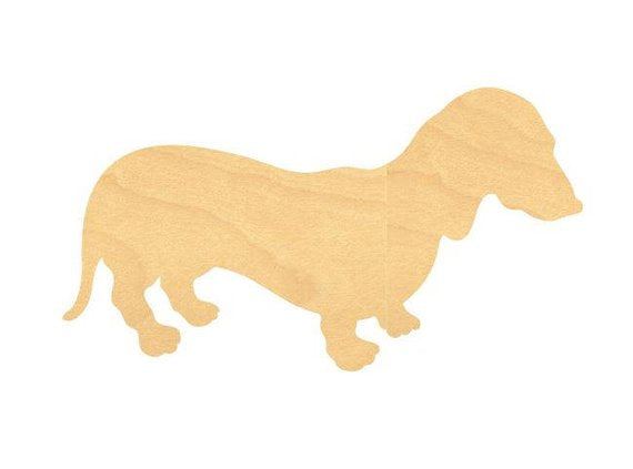 Dachshund Weenie Dog Wood Cutout