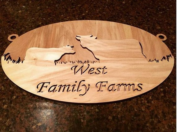 Farmhouse Decor Family Farm Wood Sign