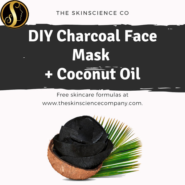 How to make your own Charcoal Face Mask with Coconut Oil