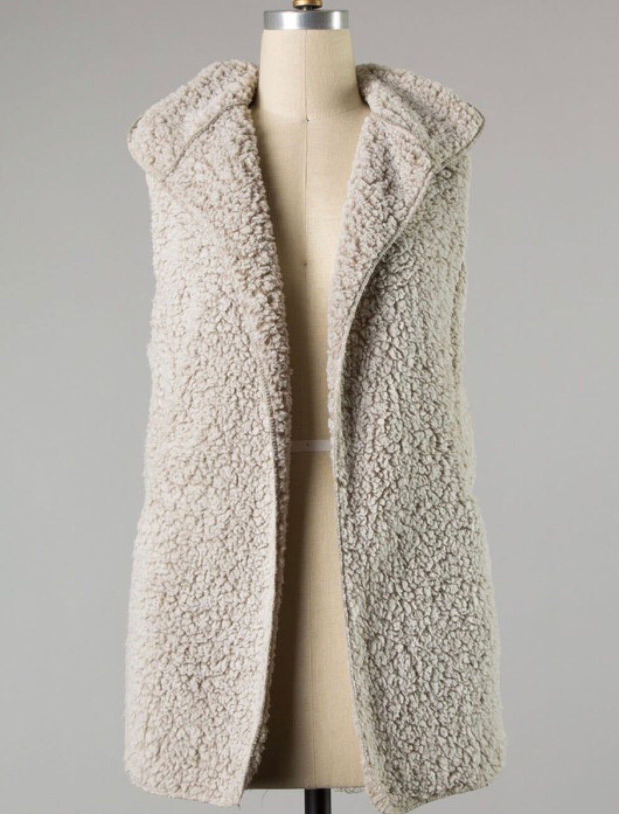 Snowed In Hooded Sherpa Vest