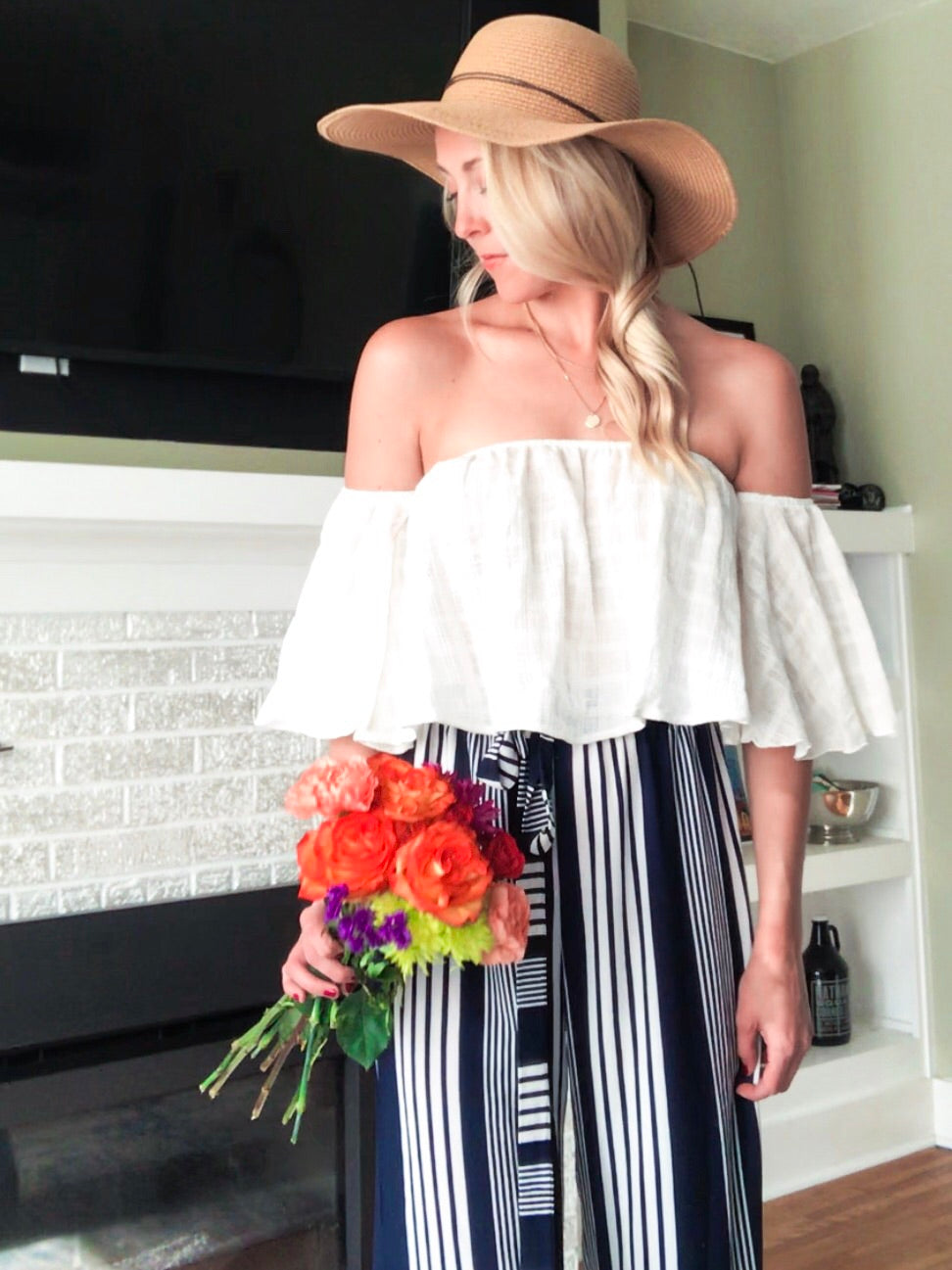 Willow Off The Shoulder Linen Top