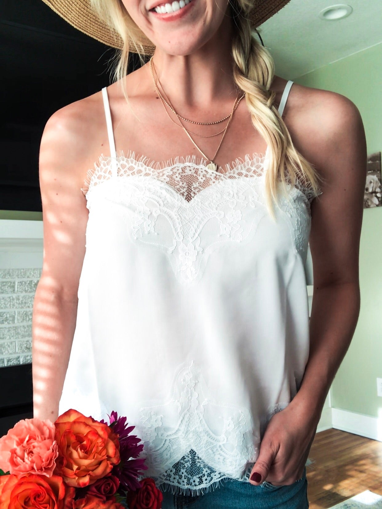 Young Love Lace Cami - White