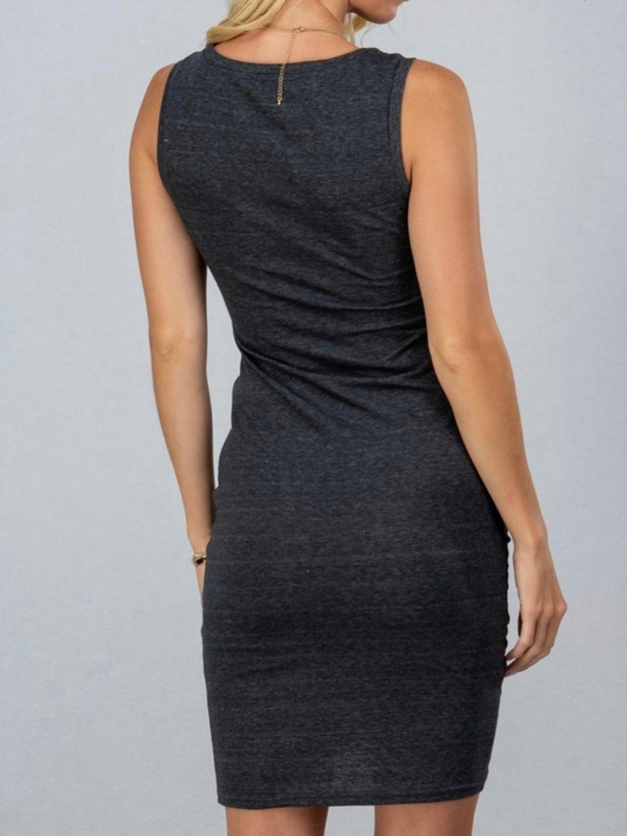 Slate Grey Sleveless Dress