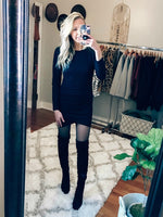 Gimme the Basics Black T-Shirt Dress