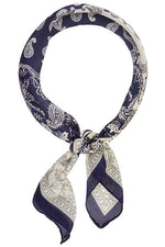Take It Easy Hair Scarf - Navy