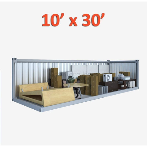 PORTABLE SELF STORAGE POD 10X30 STEEL STORAGE BUILDINGS - SHIPPING CONTAINER- SEA CAN-GreenTerraHomes