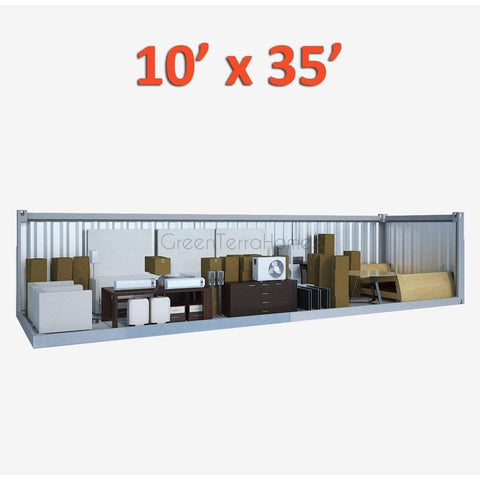 PORTABLE SELF STORAGE POD 10X35 STEEL STORAGE BUILDINGS - SHIPPING CONTAINER- SEA CAN-GreenTerraHomes