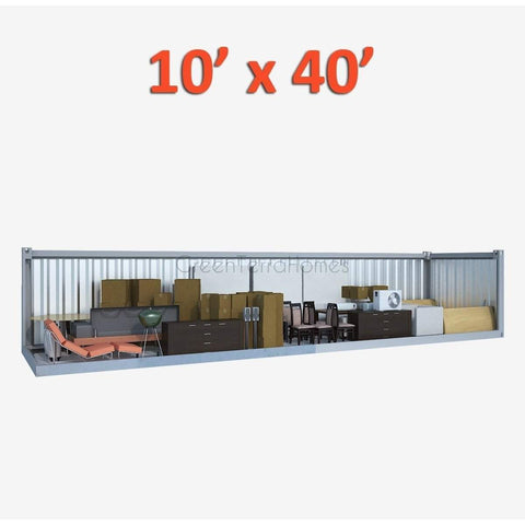PORTABLE SELF STORAGE POD 10X40 STEEL STORAGE BUILDINGS - SHIPPING CONTAINER- SEA CAN-GreenTerraHomes