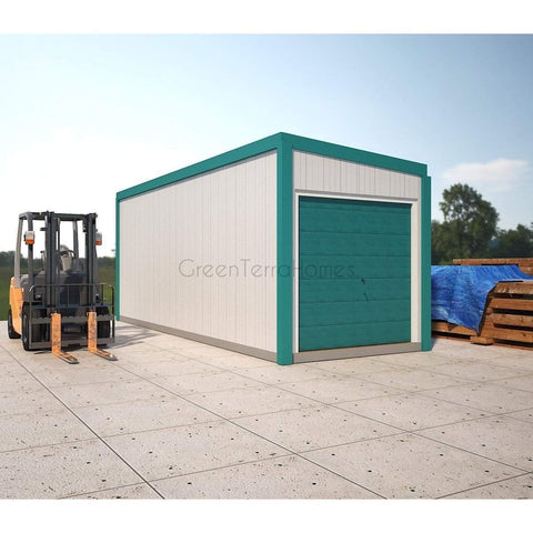 SELF STORAGE POD 8X22 ONE (1) BAY STEEL STORAGE BUILDINGS - SHIPPING CONTAINER-GreenTerraHomes