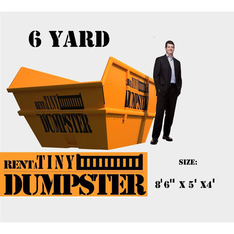 PORTABLE Roll-off Container 6-yard Dumpster Roll off Dumpster for trash Construction Waste Bin-GreenTerraHomes