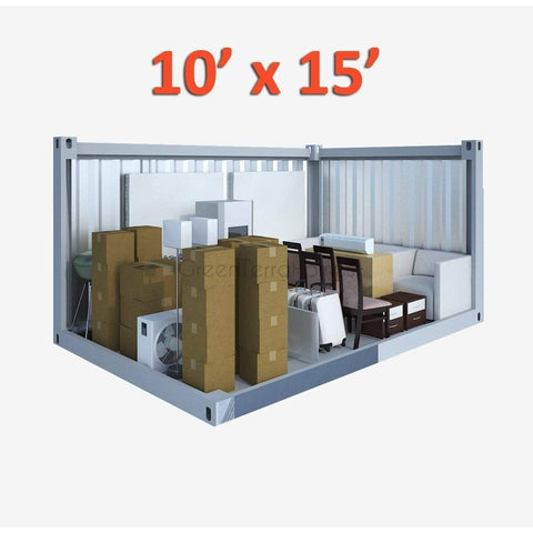 PORTABLE SELF STORAGE POD 10X15 STEEL STORAGE BUILDINGS - SHIPPING CONTAINER- SEA CAN-GreenTerraHomes
