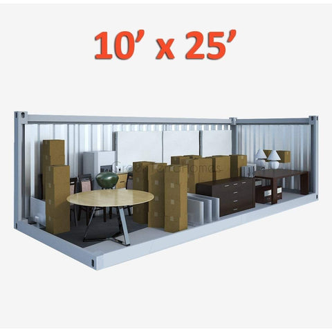 PORTABLE SELF STORAGE POD 10X25 STEEL STORAGE BUILDINGS - SHIPPING CONTAINER- SEA CAN-GreenTerraHomes