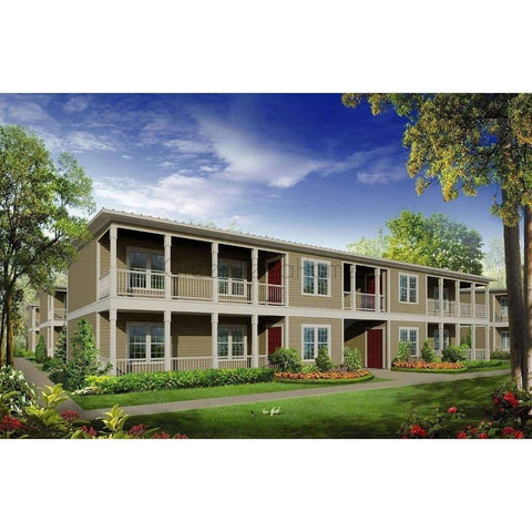 MODULAR MULTI TENANT RESIDENTIAL COMMERCIAL 24 UNIT APARTMENT 2BR 2BA 1000sf per unit-GreenTerraHomes