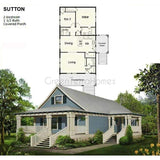 PREFAB HOMES KIT HOME 2BR 1.5BA 1056SF THE SUTTON NS3252