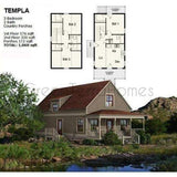 SHELL HOME PACKAGE 3BR 2BA 1068SF THE TEMPLA NS1842 MODERN MODULAR HOUSES-GreenTerraHomes