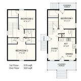 PREFAB HOME KIT 3BR 2BA 1068SF THE TEMPLA NS1842 MODERN PREFAB KIT HOUSE-GreenTerraHomes