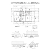 plans PREFAB HOMES KIT HOME 2BR 1.5BA 1056SF THE SUTTON NS3252