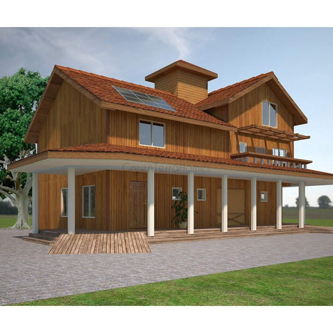 MODULAR BARN HOME 2BR 2BA 1120SF THE DURANGO BARN STYLE MODULAR HOUSE-GreenTerraHomes