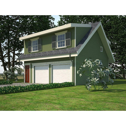 PREFAB GARAGE HOME KIT 1BR 1BA 650SF +650SF 2 CAR GARAGE THE CARRIAGE HOUSE