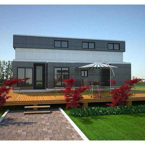 TINY OFFICE STUDIO SUITE 570SF 2 STORY 8'X32' SHE SHED MAN CAVE GARDEN SUITE-GreenTerraHomes