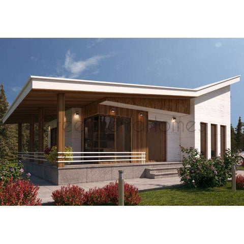 SHELL HOME PACKAGE 3BR 1.5BA 1050SF THE NARAYAN MODERN MODULAR HOUSE-GreenTerraHomes