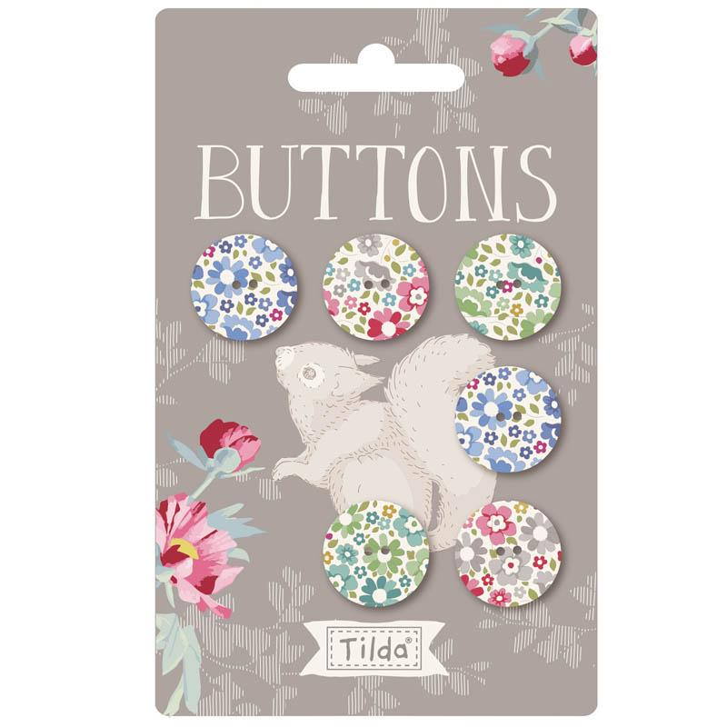 Tilda Woodland 18mm Buttons