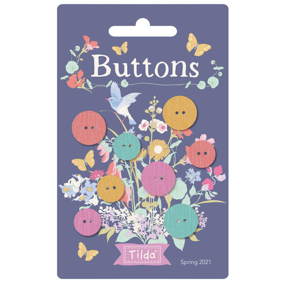 Tilda Gardenlife Chambray Chambray Buttons mixed size