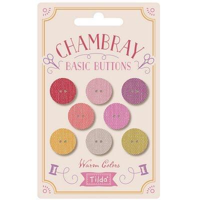 Tilda Gardenlife 18mm Chambray Basic Buttons Warm