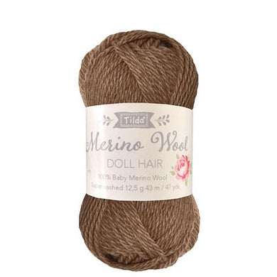 Tilda Yarn for Doll Hair in Brown