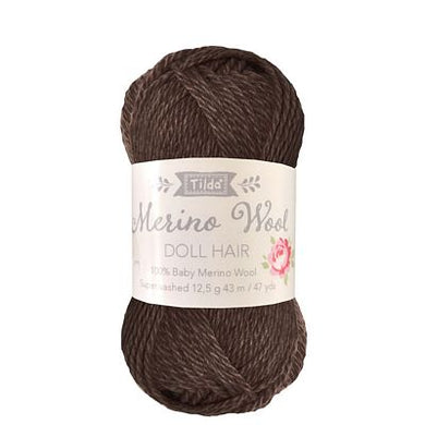 **Pre-Order Tilda Yarn for Doll Hair in Dark Brown