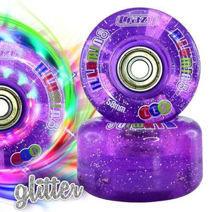 Crazy Illumin8 LED Light Up Roller Wheels (2/pack)