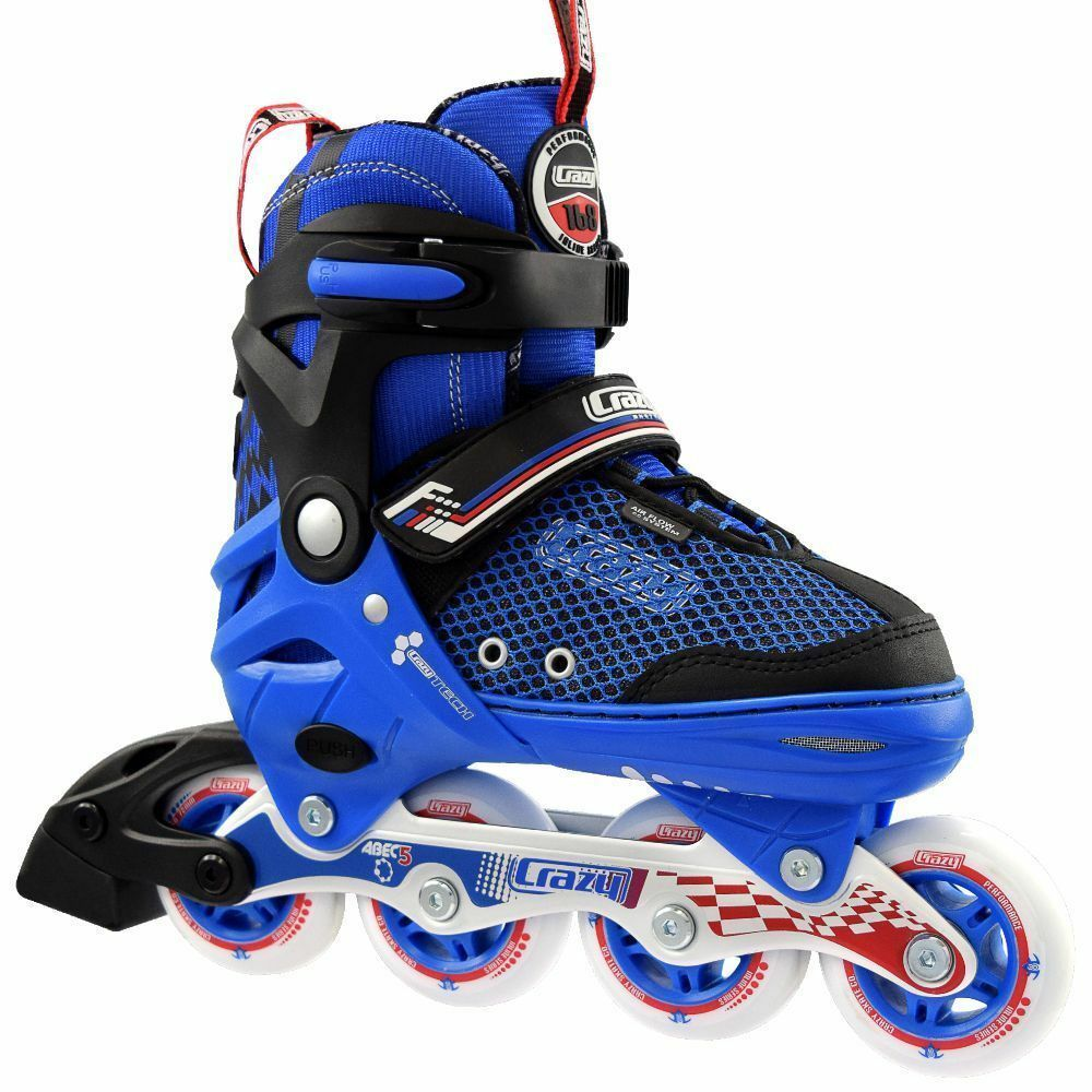 Crazy 168 BLUE Adjustable Roller Blades CLEARANCE $79 - Size J11-1
