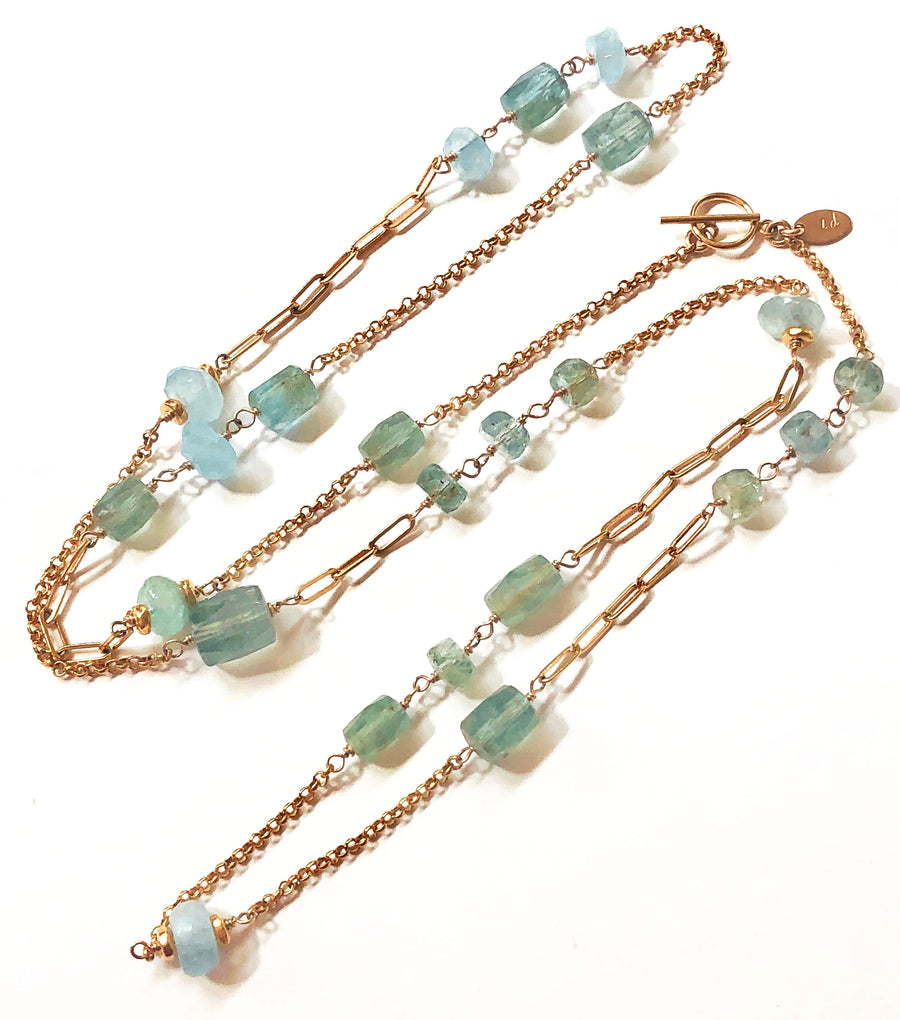Aqua Convertible Station Necklace