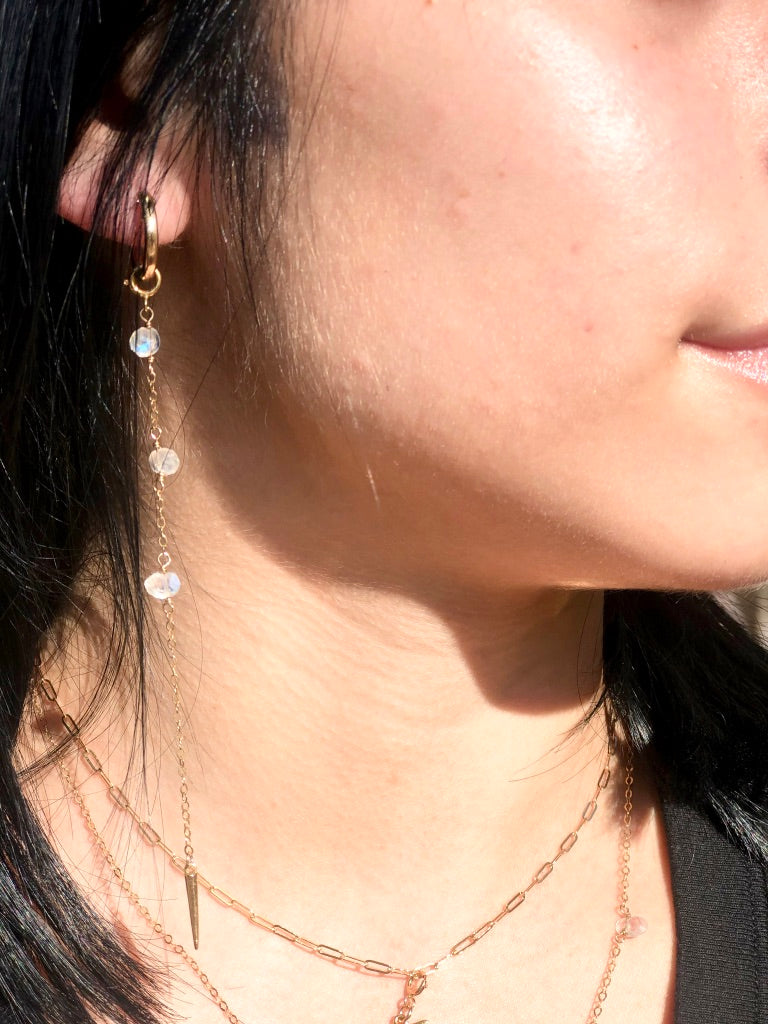 Moonstone + Spike Chain Duo