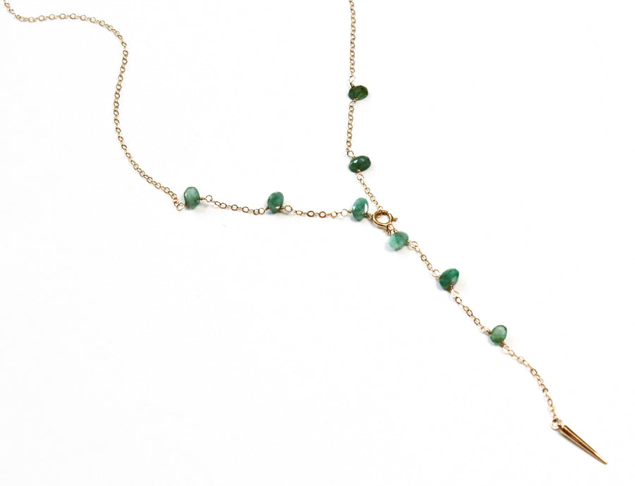 Emerald + Spike Chain Duo