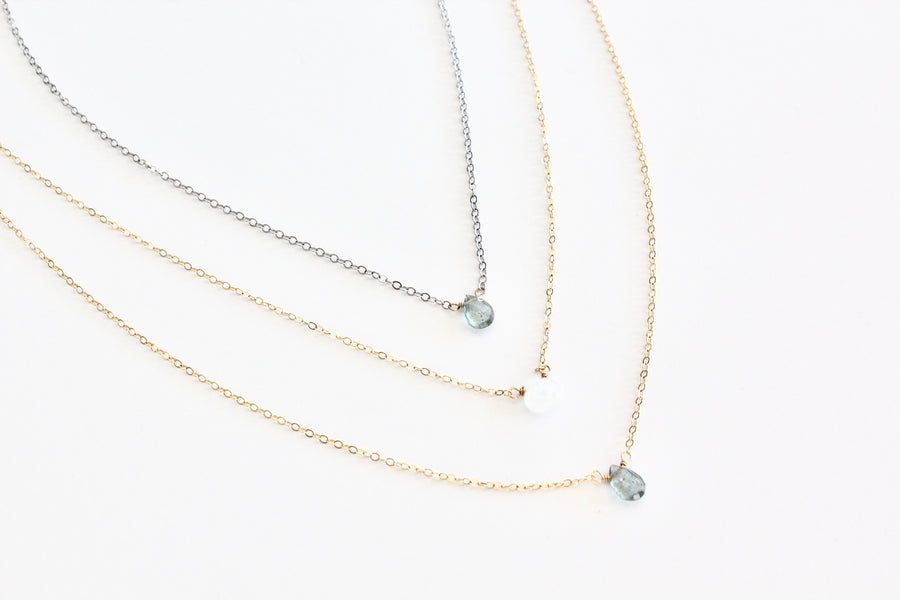 Gem Drop Layering Necklace
