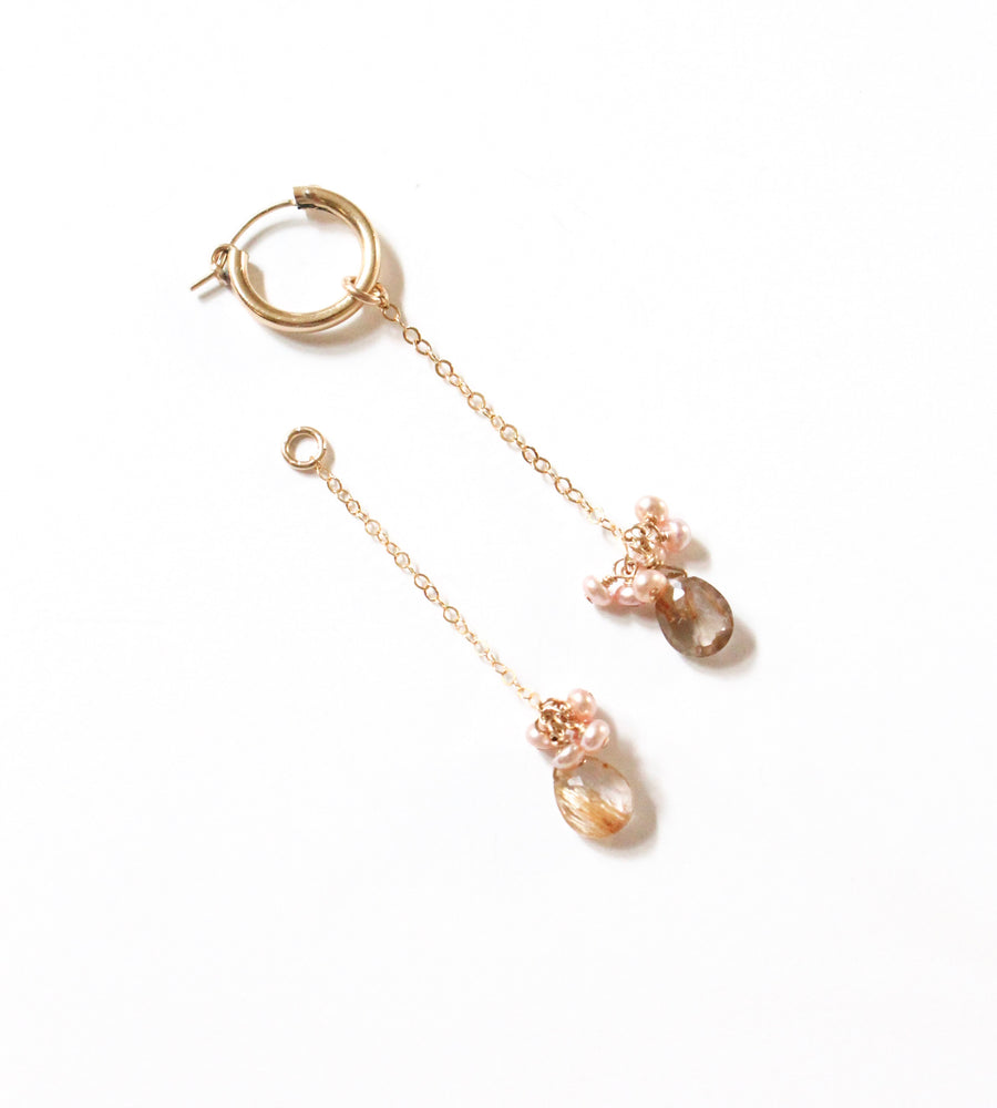 Baby Pearl Gem Drop Earring