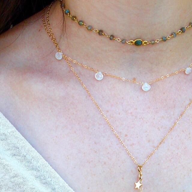 Gem Drops Layering Necklace