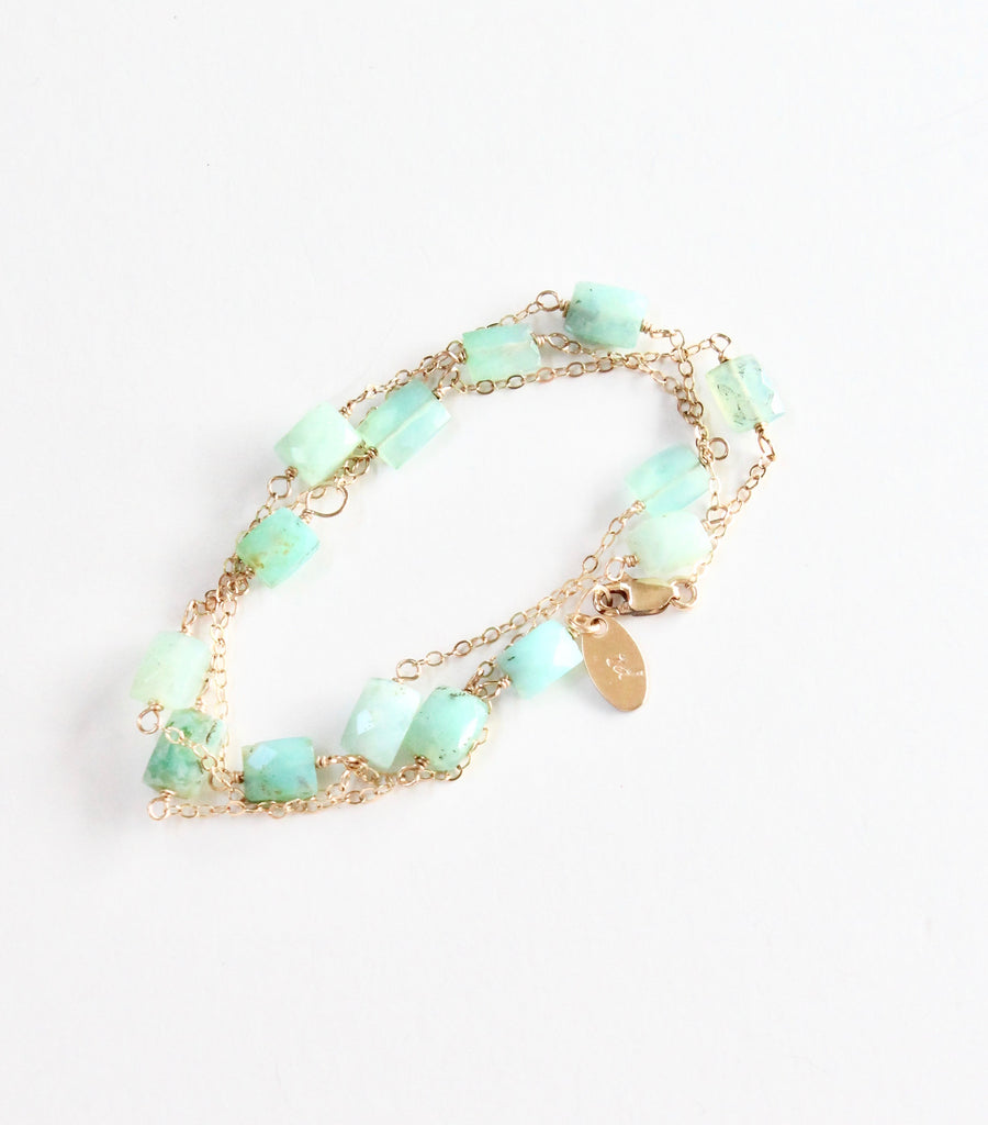 Peruvian Opal Convertible Y Necklace