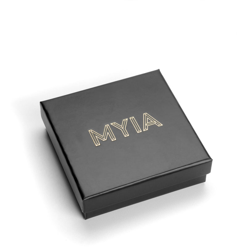 Two-tone Ultra Skinny Square Stacking Ring - 9k Rose Gold & Silver - Myia Bonner Jewellery