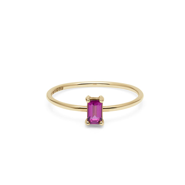 9k Yellow Gold & Garnet Rhodolite Solitaire Ring - Myia Bonner Jewellery
