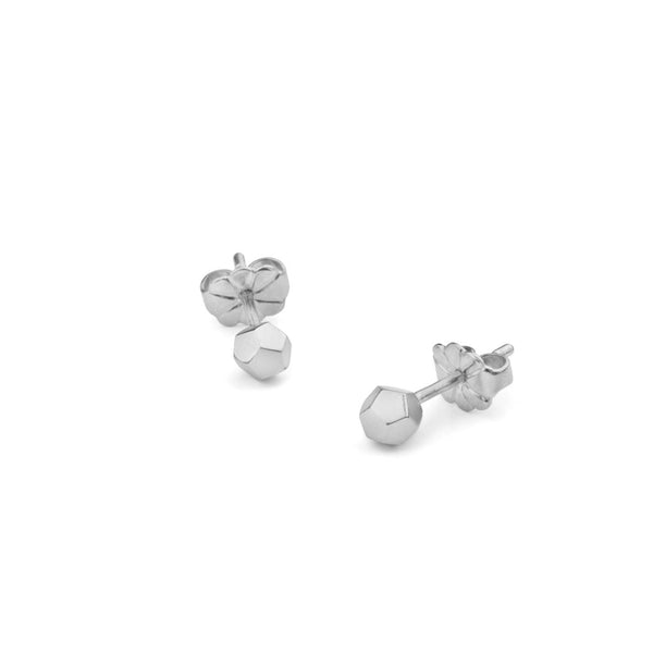 Dodecahedron Stud Earrings - Silver - Myia Bonner Jewellery