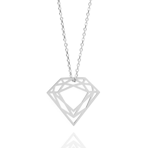 Classic Diamond Necklace - Silver - Myia Bonner Jewellery
