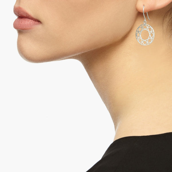 Brilliant Diamond Drop Earrings - Silver - Myia Bonner Jewellery