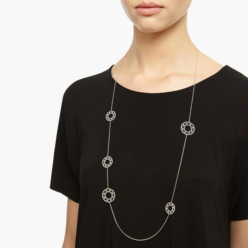 Multi-Brilliant Diamond Necklace - Silver - Myia Bonner Jewellery