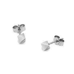 Octahedron Stud Earrings - Silver - Myia Bonner Jewellery