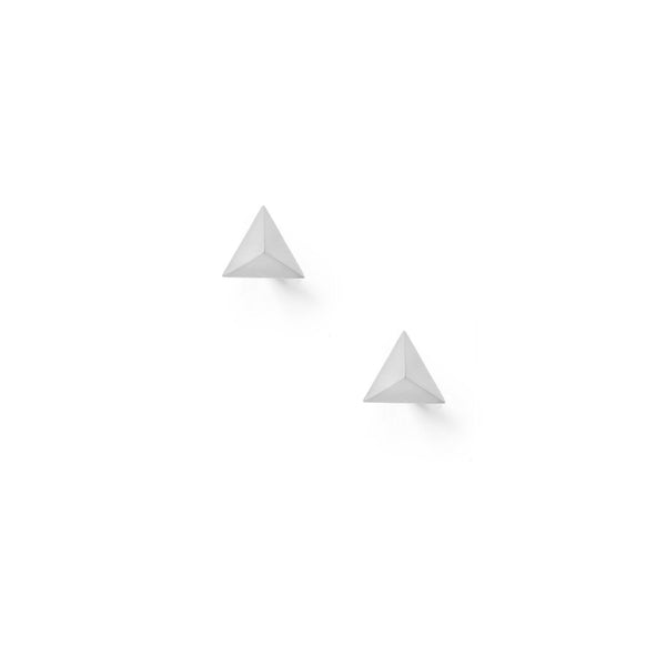 Tetrahedron Stud Earrings - Silver - Myia Bonner Jewellery