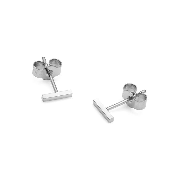 Mini Bar Stud Earrings - Silver - Myia Bonner Jewellery