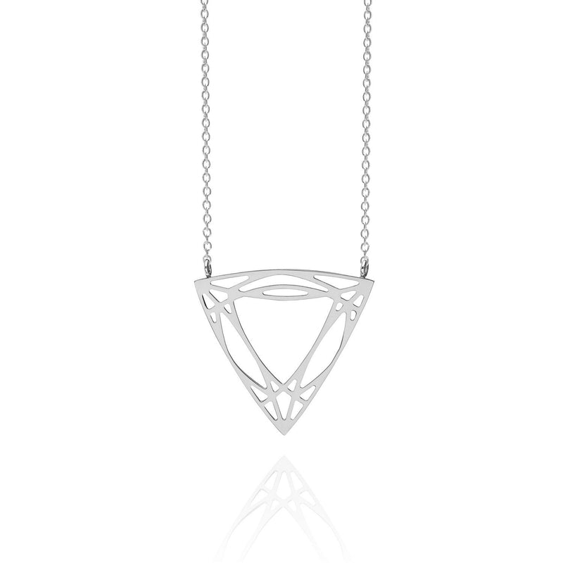 Trillion Diamond Necklace - Silver - Myia Bonner Jewellery
